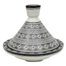 Moroccan Serving Presentation Tagine Dish in Ceramic Hand Painted 32 x 27 cm - 12.5 x 10.5'' (TGA)